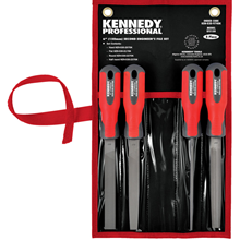Kennedy-Pro.150mm (6'') 4 Piece Second Cut Engineers File Set with Handles