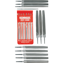 Kennedy.18 Piece Second Cut Engineers & Needle Files Set