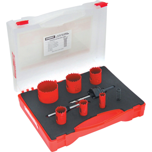 Kennedy.ELECTRICIANS HOLESAW KIT IN PLASTIC CASE