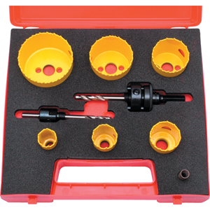 Kennedy.PROFESSIONAL HOLESAW KIT IN PLASTIC CASE