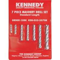 Kennedy.No.6-20 7PCE MASONRY DRILL SET
