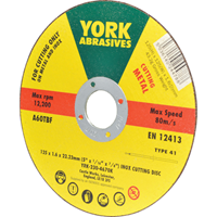 York.INOX CUTTING DISC TYPE-41 125x1.6x22.23mm A60TBF