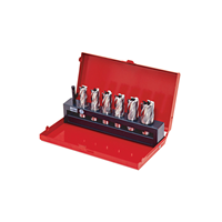 Kennedy.MULTI-TOOTH MILLING CUTTER SET IN CASE 6-PIECE