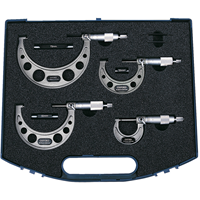 Oxford.0-100mm 4-PCE EXTERNAL MICROMETER SET