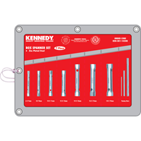 Kennedy.7-PCE BOX SPANNER SET 6-19mm C/W TOMMY BARS