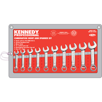 Kennedy-Pro.10-19mm SHORT ARM COMBINATION SPANNER SET 10PC