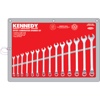 Kennedy.6-19mm OFFSET CV COMBINATION SPANNER SET 14PC