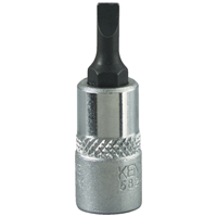 Kennedy-Pro.4mm SLOTTED SCREWDRIVER SOCKET BIT 1/4