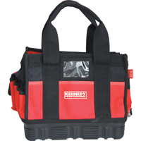 "Kennedy.330mm/13"" POLYESTER TOOL BAG RUBBER BOTTOM 13-PKT"