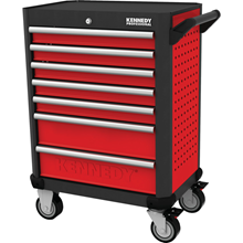 Kennedy-Pro.RED-28 7 DRAWER PROFESSIONAL ROLLER CABINET