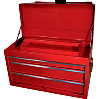 Kennedy-Pro.RED 3-DRAWER PROFESSIONAL TOOL CHEST