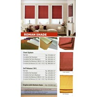 Jual  ROMAN SHADE BLIND
