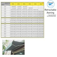 Jual RETRACTABLE AWNING