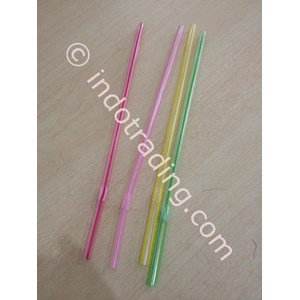 Sedotan Transparent Bengkok 6 Mm