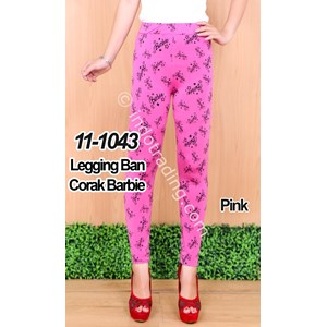 Legging Ban Corak Barbie Warna Pink