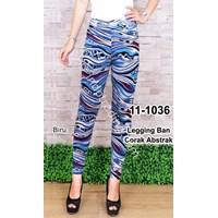 Legging Ban Corak Abstrak Warna Biru 1