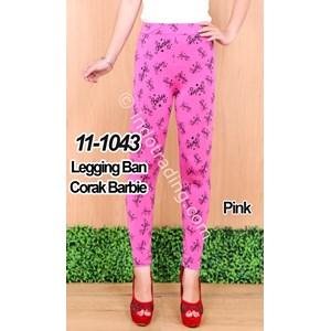 Legging Ban Corak Barbie Warna Pink