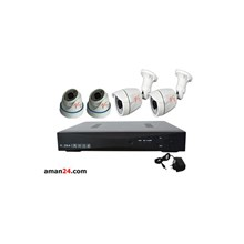 PAKET CCTV 4 CHANNEL AHD HOME 720P MURAH 2 INDOOR 2 OUTDOOR