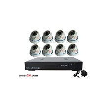 PAKET CCTV 8 CHANNEL AHD HOME 720P MURAH 8 INDOOR