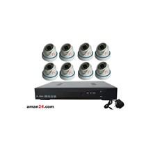 PAKET CCTV 8 CHANNEL AHD HOME 720P MURAH 8 INDOOR
