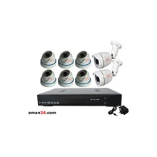 PAKET CCTV 8 CHANNEL AHD HOME 720P MURAH 6 INDOOR 2 OUTDOOR