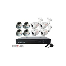 PAKET CCTV 8 CHANNEL AHD HOME 720P MURAH 4 INDOOR 4 OUTDOOR
