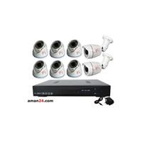 Jual PAKET CCTV 8 CHANNEL AHD OFFICE 1080P MURAH 6 INDOOR 2 OUTDOOR