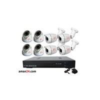 Jual PAKET CCTV 8 CHANNEL AHD OFFICE 1080P MURAH 4 INDOOR 4 OUTDOOR