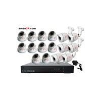 Jual PAKET CCTV 16 CHANNEL AHD OFFICE 1080P MURAH 10 INDOOR 6 OUTDOOR