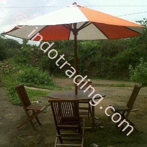 Dari Payung Taman kayu jati 3