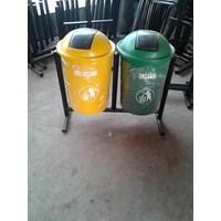 Tempat Sampah Double bulat