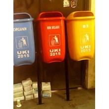 Tempat Sampah Triple Oval
