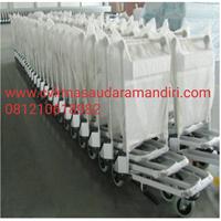 Beli Trolley Bandara Stainless 4