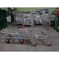 Jual Trolley Bandara Stainless 2