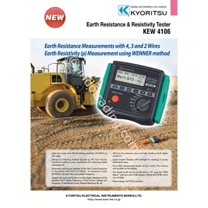KYORITSU 4106 Earth Resistance Resistivity Tester