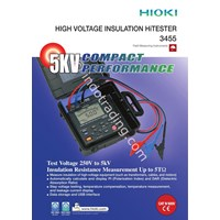 Hioki 3455 01 5Kv High Voltage Insulation Tester 1