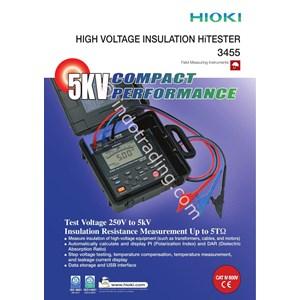 Hioki 3455 01 5Kv High Voltage Insulation Tester