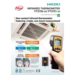 Hioki Ft3700 20 Infrared Thermometers