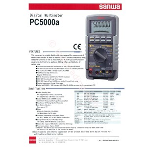 Sanwa Digital Multimeter Pc5000a