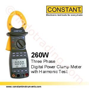 Constant 260W Tiga Phase Power Digital Clamp Meter Dengan Uji Harmonic