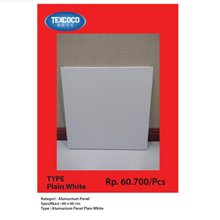 Panel Atap Aluminium Texcoco Plain White