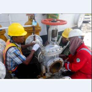 Pekerjaan Realokasi Tangki Premium T10 Menjadi Tangki Pertalite di TBBM Sibolga By PT. Bina Agung Lestari