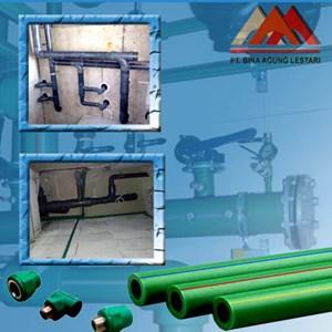 Pemasangan Jalur Pipa PPR Medan