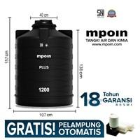 Tangki Air Mpoin Plus 1200 L-Sni Tandon Air Toren Air Anti Pecah Anti Bakteri Anti Lumut Garansi 18 Tahun