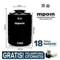 Tangki Air Mpoin Gl 1300 Liter- Sni Tandon Air Toren Air Anti Pecah Anti Bakteri Anti Lumut Garansi 18 Tahun