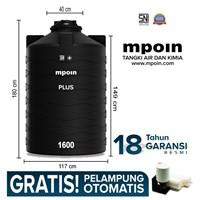 Tangki Air Mpoin Plus 1600 Liter- Sni Tandon Air Toren Air Anti Pecah Anti Bakteri Anti Lumut Garansi 18 Tahun