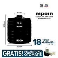 Tangki Air Mpoin Ring 5000 L-Sni Tandon Air Toren Air Anti Pecah Anti Bakteri Anti Lumut Garansi 18 Tahun