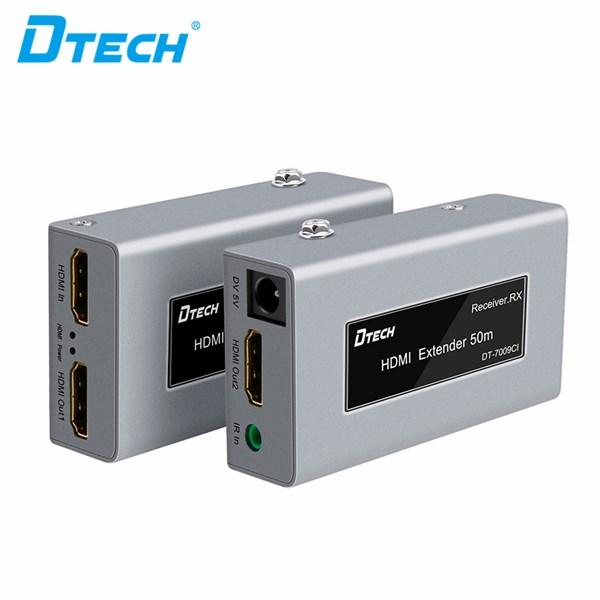 HDMI Extender 50 M with IR dan Loop out + 2 adaptor DT-7009CI