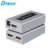 HDMI Extender 50 M with Loop out (tanpa IR) + 2 adaptor DT-7009C