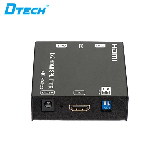 4K HDMI Splitter Versi 2 - 1x2 + adaptor DT-6542